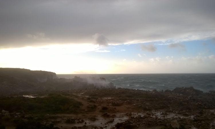 Sturm in Sagres.