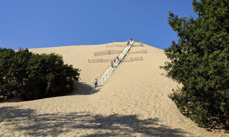 Dune du Pilat, danke für die Treppe