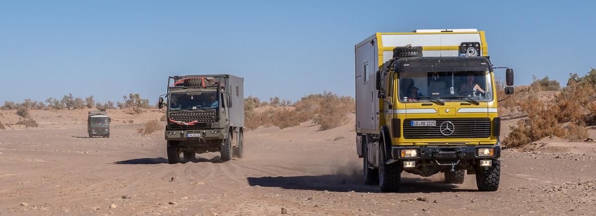 Mit dem Allrad Wohnmobil in der Wüste