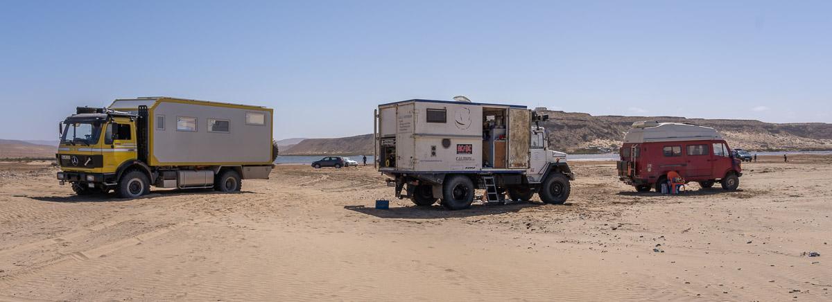 Camping auf dem Strand, das geht nur mit 4x4