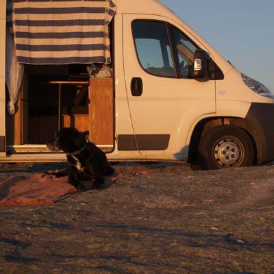 2000m und super Internet: Sonnenuntergang auf dem Gipfel - auch das ist Portugal.