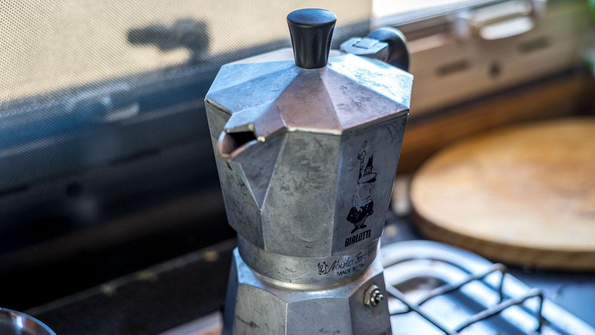 Kaffee kochen mit Gas