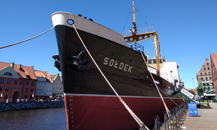 Museumsschiff Soldek in Danzig
