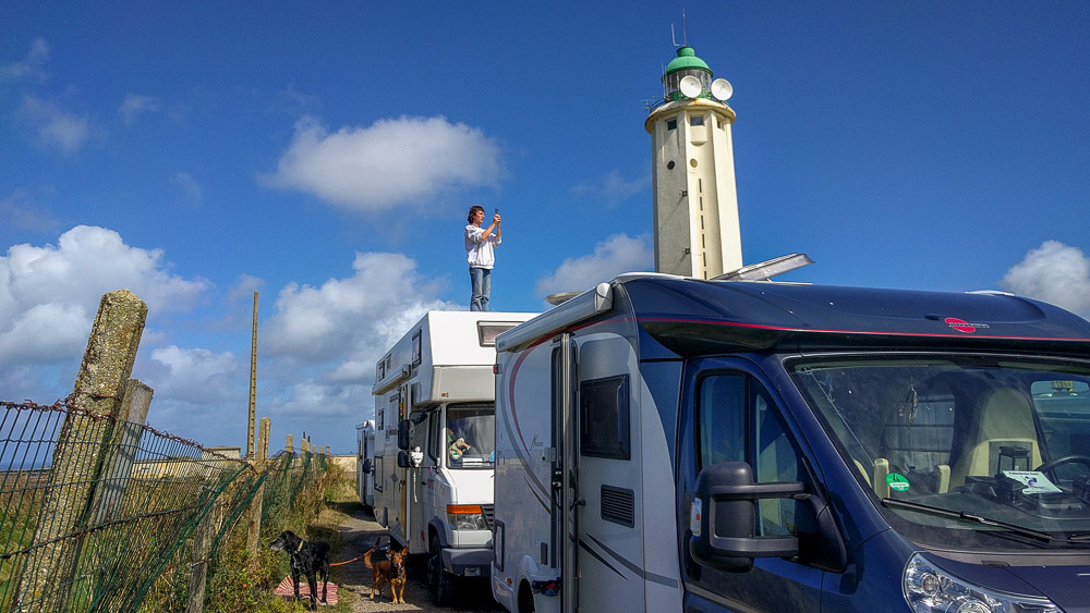 Frankreich campen am Leuchtturm