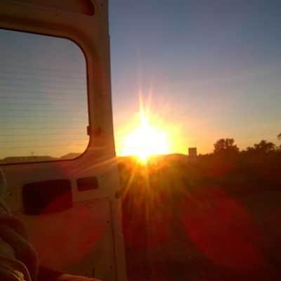 Freiheit spüren: ein Sonnenaufgang im Dezember.