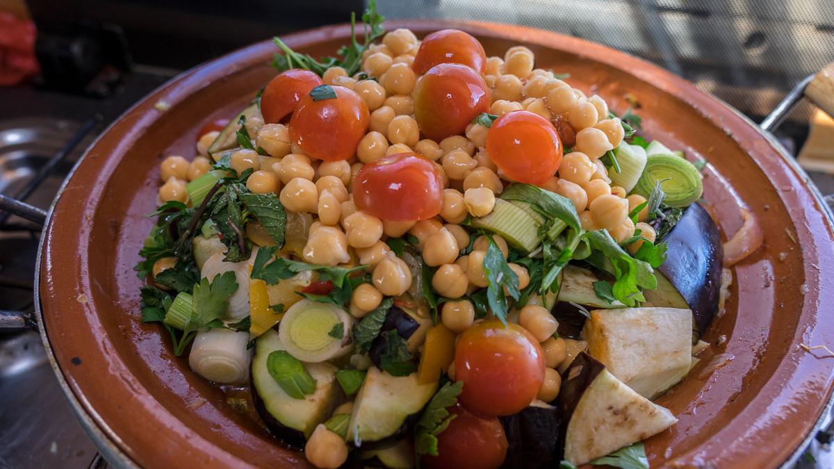 Gemüse Tajine