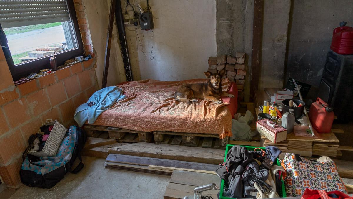 Ausbauhalle Schlafzimmer