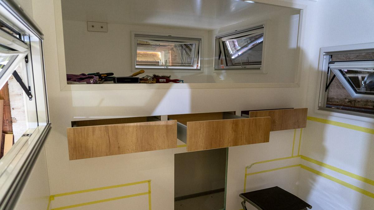 Selbstausbau Wohnmobil Schubladen