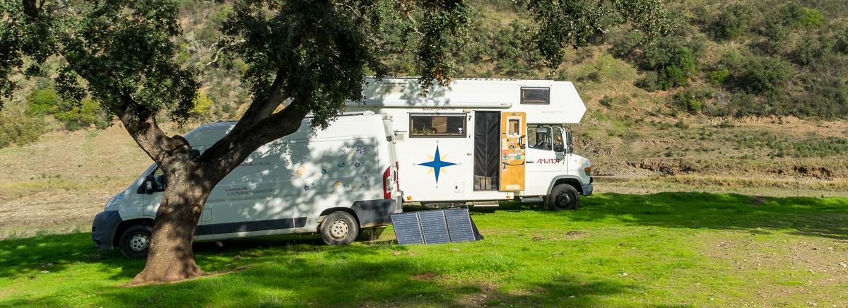 mobile Solaranlage für Wohnmobil und Camping
