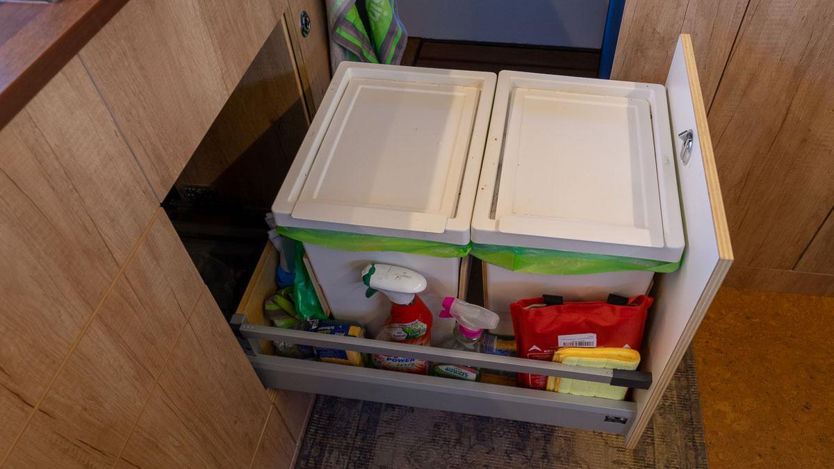Mülleimer Wohnmobil Küche