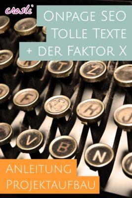 Aufbau einer Homepage - SEO Texte schreiben lernen