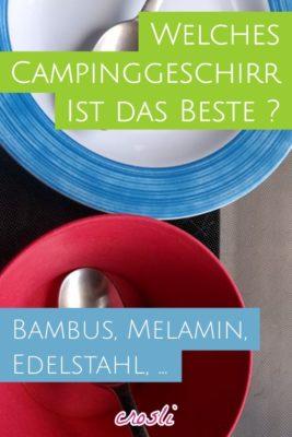 Campinggeschirr: Melamin oder Bambus?