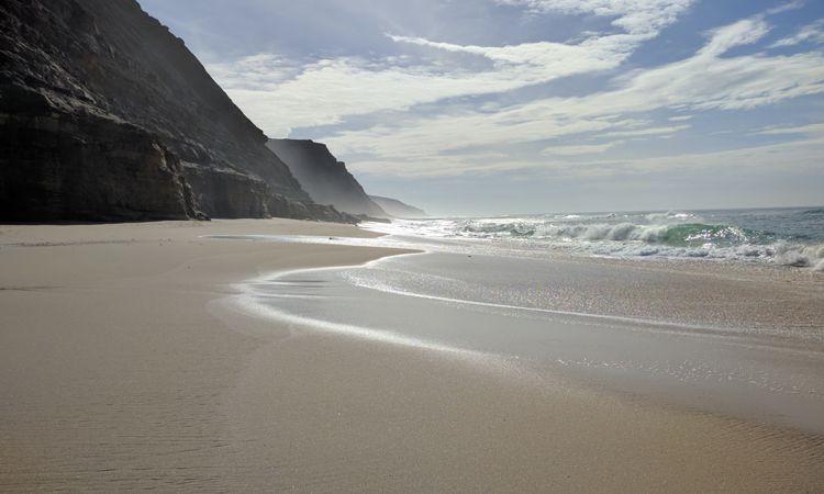Heute Morgen noch am Strand ...