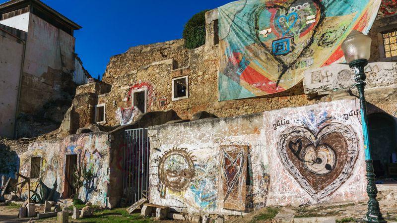Graffiti Lissabon Städtetrip