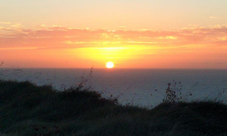 Sonnenuntergang über dem Atlantik - immer wieder schön.
