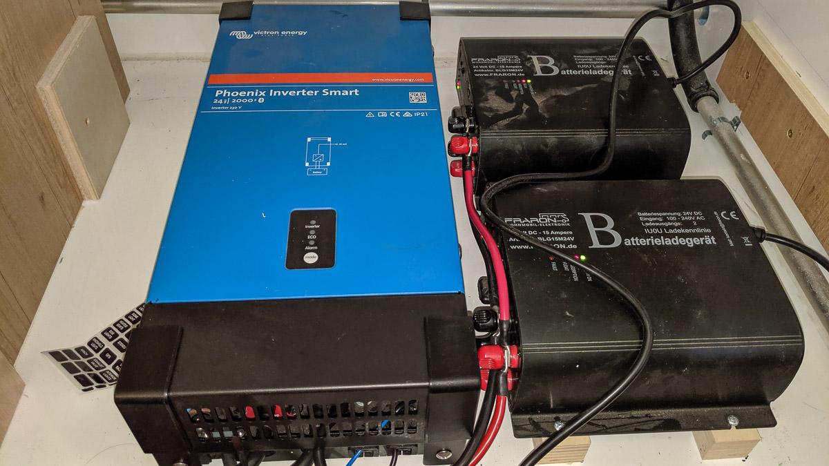 Strom im Womo - Spannungswandler und Batterieladegerät