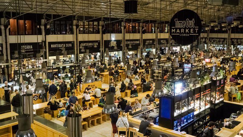 Timeout Market beim Cais do Sodre in Lissabon