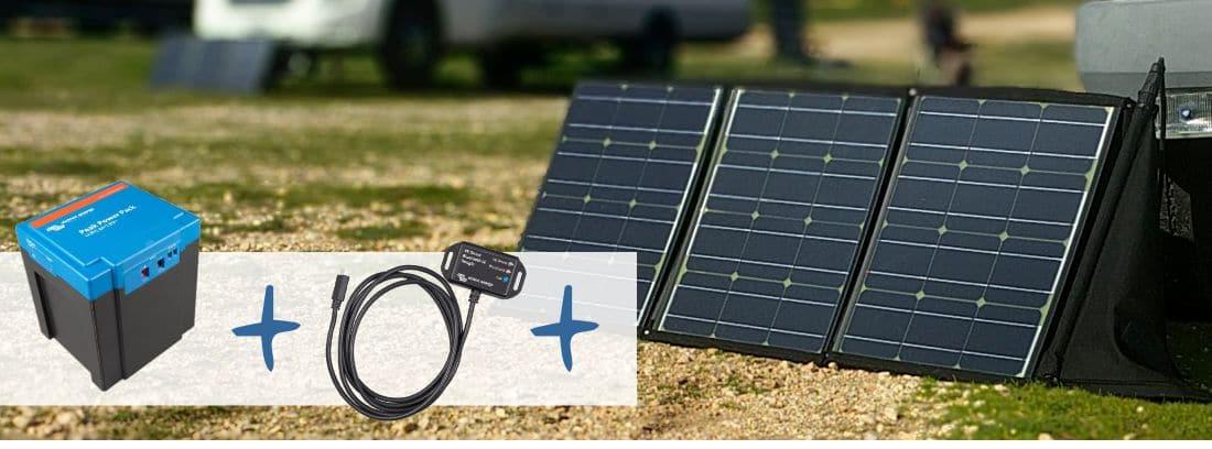 Die ultimative mobile Solaranlage (für's Wohnmobil): faltbares Solarmodul plus tragbare Lithiumbatterie