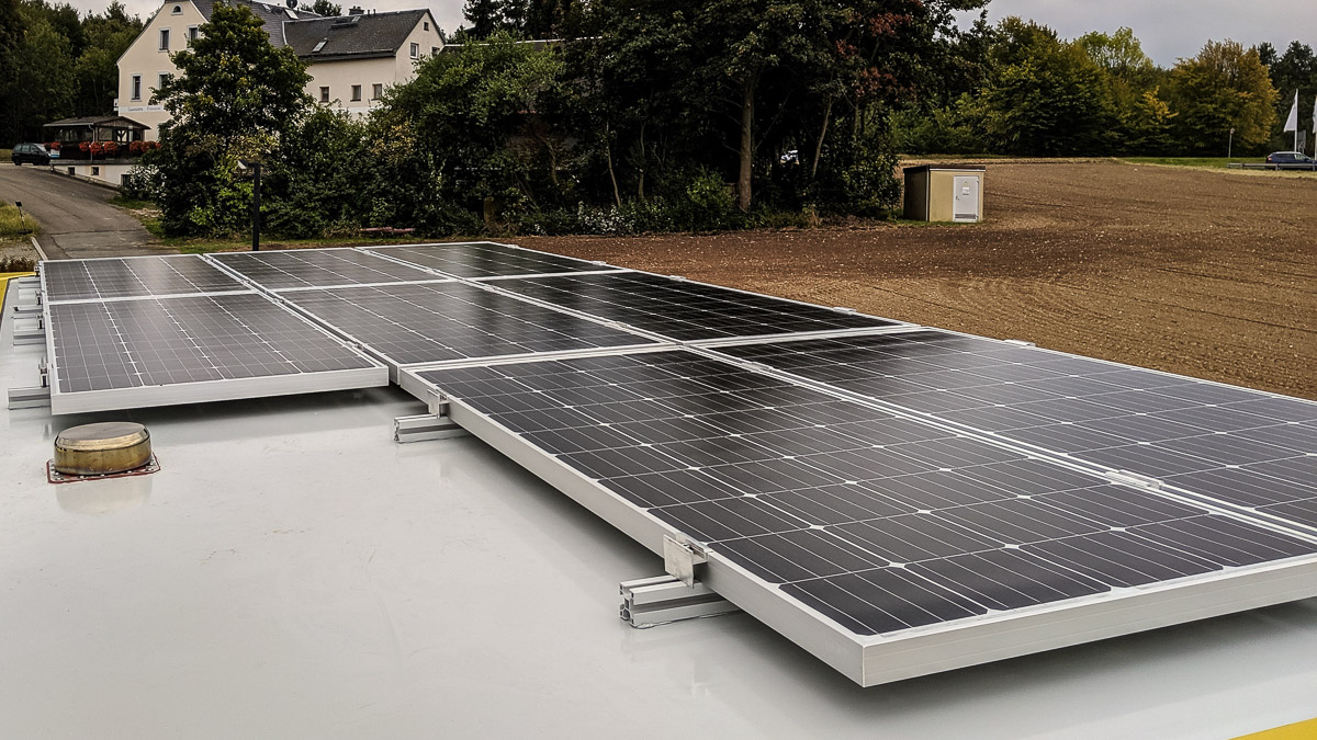 Strom autarkes Wohnmobil Solaranlage