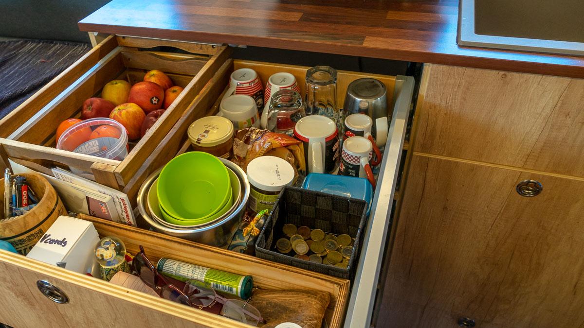 Schublade Küchenblock Wohnmobil
