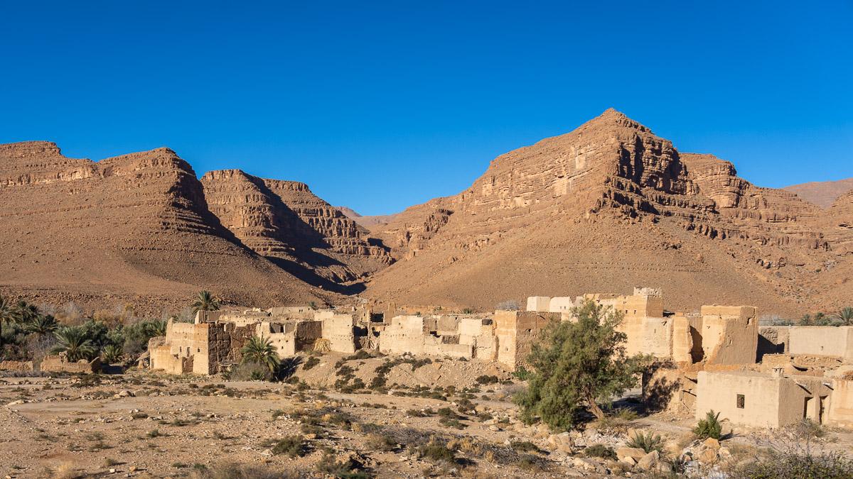 Marokkanisches Dorf im Ziz Tal